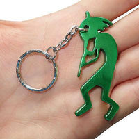 Green Flute Player Key Ring Chain Fob Bottle Opener Keyring Keychain Bag Charm Green Flute Player Key Ring Chain Fob Bottle Opener Keyring Keychain Bag Charm