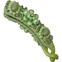 Green Hair Clasp Bridesmaid Bridal Flower Girl Wedding Fascinator Barrette Clip