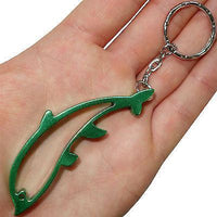 Green Metal Dolphin Key Ring Chain Fob Beer Bottle Opener Keyring Keychain Toy