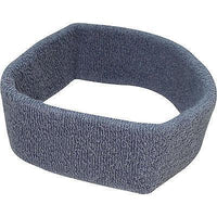Grey Sports Head Sweatband Hairband Sweat Band Headband Fitness Tennis Badminton