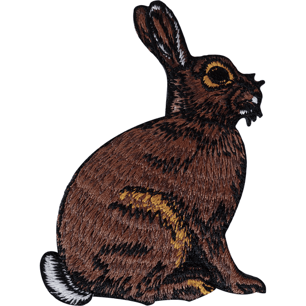 Hare Patch Iron Sew On Embroidered Badge Bunny Rabbit Animal Embroidery Applique