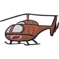 Helicopter Embroidered Iron / Sew On Patch Kids Crafts T Shirt Embroidery Badge