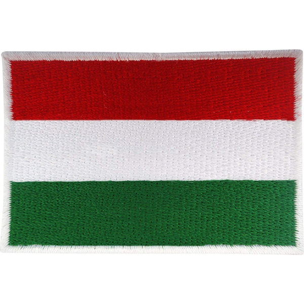 Hungary Flag Patch Iron On Badge / Sew On Hungarian Flag Embroidered Applique