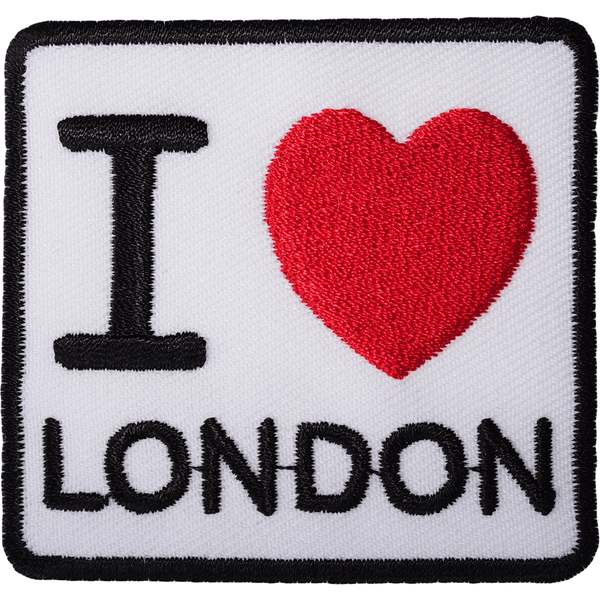 I Love London Patch Iron Sew On Red Heart UK British England Embroidered Badge