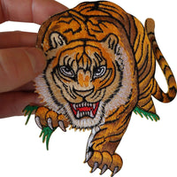 Iron On Embroidered Tiger Patch /Sew On T Shirt Motorbike Bag Biker Jacket Badge
