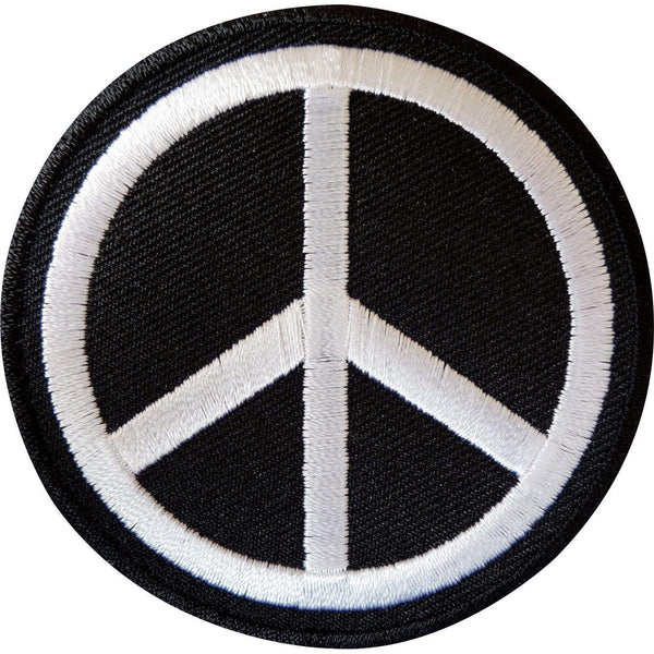 Iron On Peace Sign Patch Symbol Sew On Cloth Jacket Jeans Bag Embroidered Badge