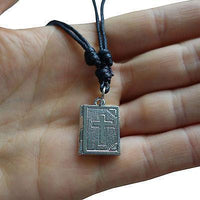 King James Holy Bible Pendant Chain Necklace Catholic Christian Church Cross God