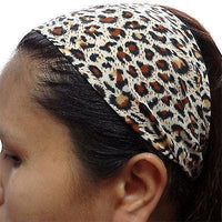 Leopard Print Spots Elastic Headband Hairband Gym Sweatband Alice Head Hair Band Leopard Print Spots Elastic Headband Hairband Gym Sweatband Alice Head Hair Band