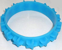 Light Blue Rubber Silicone Stars Bracelet Wristband Bangle Mens Womens Jewellery