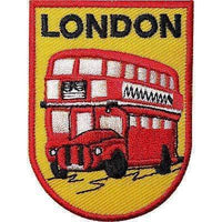 London Bus Embroidered Iron / Sew On Patch Clothes T Shirt Jacket Souvenir Badge