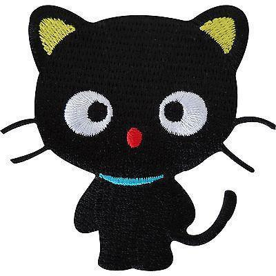 Lucky Black Cat Embroidered Iron / Sew On Patch Clothes Jeans T Shirt Bag Badge