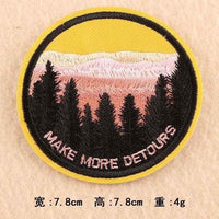 Make More Detours Patch Iron On Sew On Embroidered Badge Embroidery Applique Outdoor Camping Hiking