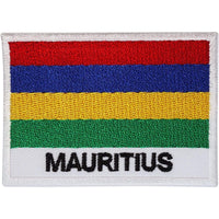 Mauritius Flag Patch Embroidered Badge Iron Sew On Clothes Jeans Hat T Shirt Bag