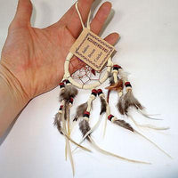 Mini Cream Dreamcatcher Childrens Kids Boys Girls Bedroom Car Decor Toy Present