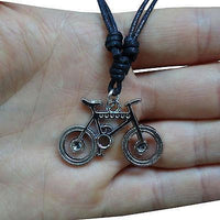 Mountain Bike Pendant Chain Necklace Silver Tone Mens Womens Girls Boys Childs Mountain Bike Pendant Chain Necklace Silver Tone Mens Womens Girls Boys Childs