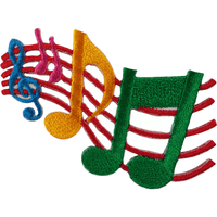 Music Notes Patch Iron Sew On Clothes Embroidered Badge Musical Sheet Applique