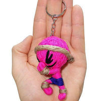 Neon Pink Thai Boxing String Voodoo Doll Boxer Keyring Keychain Bag Charm Toy Neon Pink Thai Boxing String Voodoo Doll Boxer Keyring Keychain Bag Charm Toy