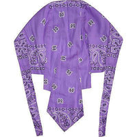 Paisley Leaf Lavender Bandana Biker Walking Chef Kitchen Gym Zandana Sun Hat Cap