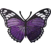 Purple Butterfly Embroidered Iron / Sew On Patch Dress Skirt Jeans Top Bag Badge