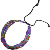 Purple Multicoloured Bracelet Wristband Bangle Mens Womens Boys Girls Jewellery