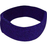 Purple Sports Head Sweatband Hairband Sweat Band Headband Fitness Tennis Squash