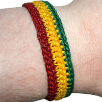 Rasta Reggae Bracelet Wristband Bangle Mens Womens Hippie Bob Marley Jewellery