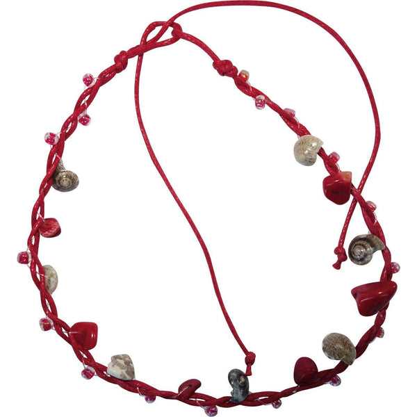 Red Anklet Ankle Bracelet Foot Chain Ladies Girls Shell Stone Beaded Jewellery