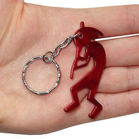 Red Flute Player Key Ring Chain Fob Bottle Opener Keyring Keychain Bag Charm Toy