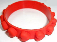 Red Love Heart Rubber Silicone Bracelet Wristband Bangle Ladies Womens Jewellery Red Love Heart Rubber Silicone Bracelet Wristband Bangle Ladies Womens Jewellery