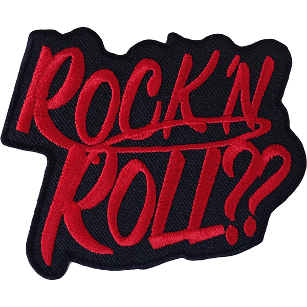Rock N Roll Iron On Patch And Sew On T Shirt Clothes Bag Music Embroidered Badge