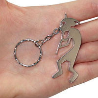 Silver Flute Player Key Ring Chain Fob Bottle Opener Keyring Keychain Bag Charm