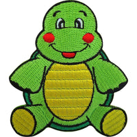 Turtle Patch Embroidered Tortoise Iron On Badge / Sew On Embroidery Applique