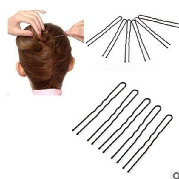 U Shaped Bobby Pins Kirby Grips Black Hair Clips Clasps Slides
