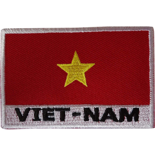 Vietnam Flag Patch Iron Sew On Embroidered Badge Vietnamese Embroidery Applique