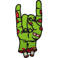 Zombie Hand Patch Iron Sew On Clothes Bag Embroidery Applique Embroidered Badge