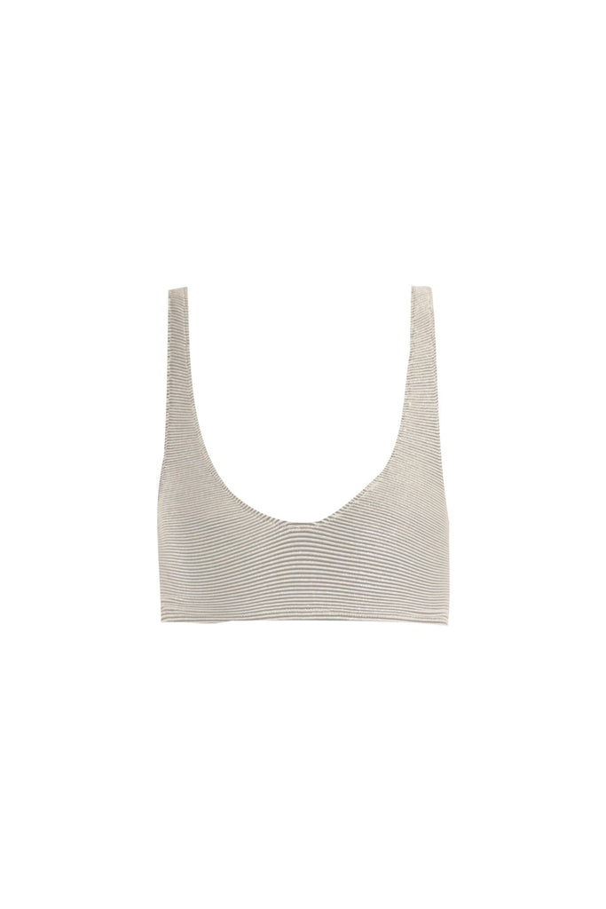 THE LAETI TOP IN PLATINUM RIB