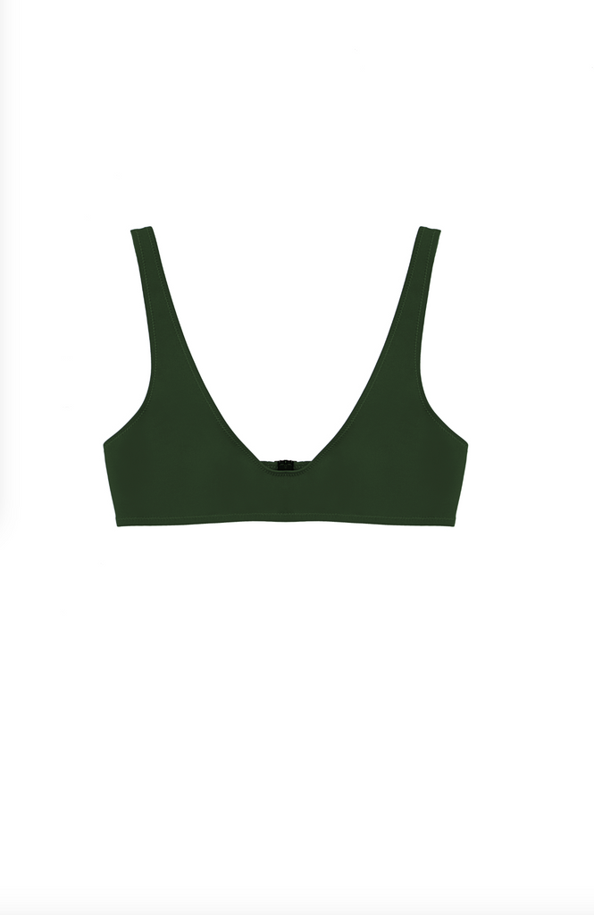 THE LAETI TOP IN HUNTER GREEN