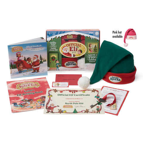North Pole Kids' Club Official Elf Kit Contents