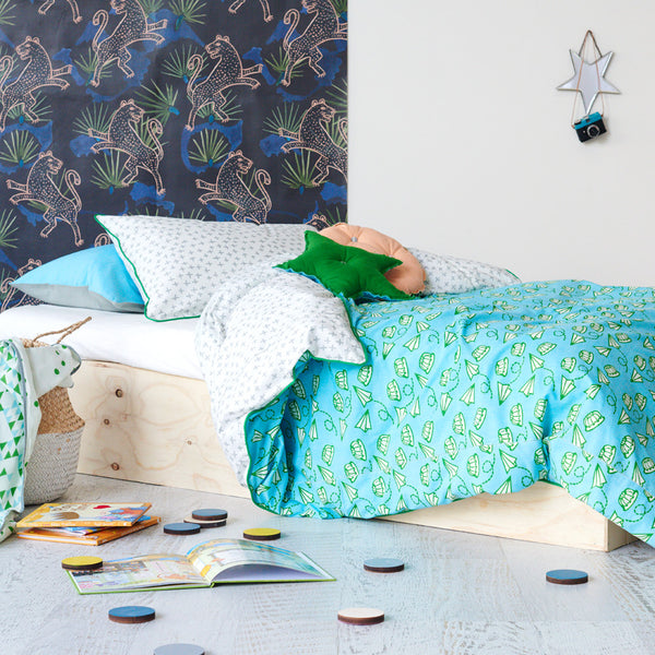 aeroplane jelly single bed quilt cover