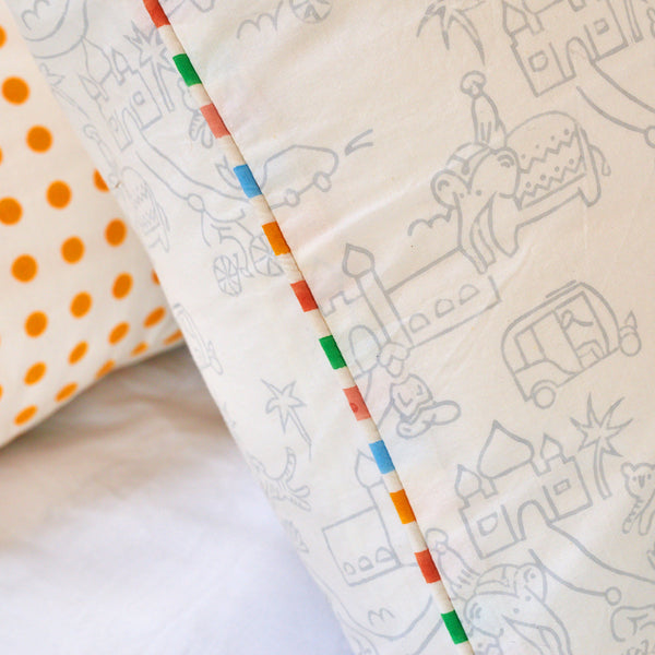 jaipur candy stripe pillowcase