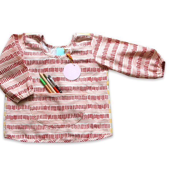 bonnie stripey kids art smock