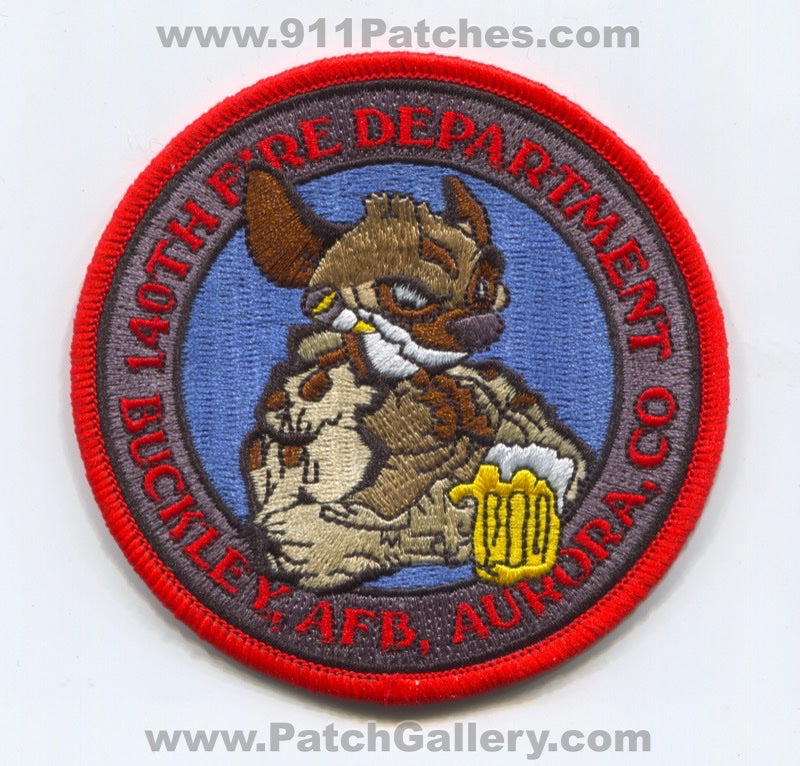 140th Wing Fire Department Buckley Air Force Base AFB USAF Military Patch Colorado CO