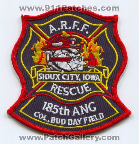 185th Air National Guard ANG Col Bud Day Field Fire Department ARFF USAF Military Patch Iowa IA