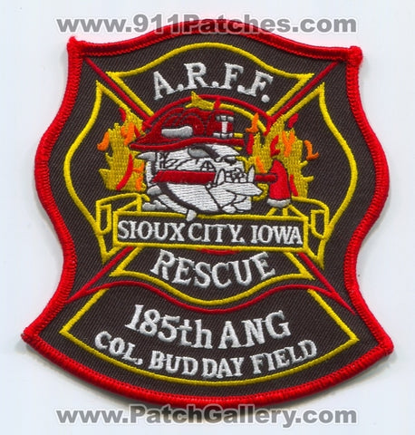 185th Air National Guard ANG Fire Department ARFF USAF Military Patch Iowa IA