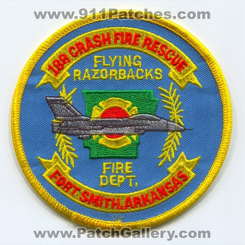 188th Fighter Wing FW Crash Fire Rescue Department USAF Military Patch Arkansas AR