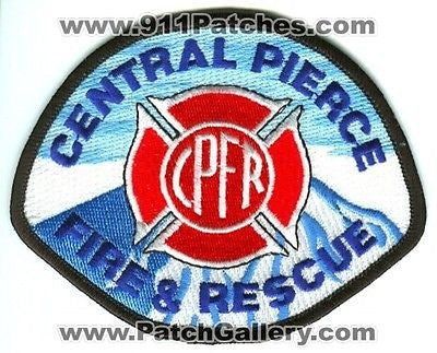Central Pierce Fire and Rescue Department Dept CPFR EMS Patch Washington WA Blue