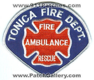 Tonica Fire Department Ambulance Rescue TFD EMS EMT Paramedic Patch Illinois IL SKU250