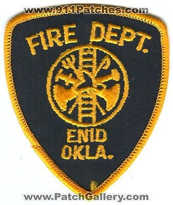 Enid Fire Department Dept EFD Rescue EMS Patch Oklahoma OK Patches OLD