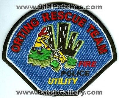 Orting Rescue Team Fire Police Utility Department FD Patch Washington WA Patches - SKU154