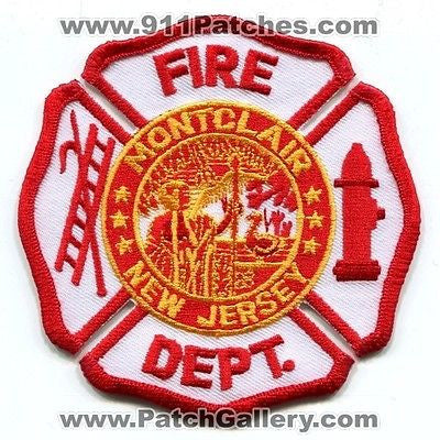 Montclair Fire Department Dept FD Rescue EMS Patch New Jersey NJ Patches Die Cut - SKU135